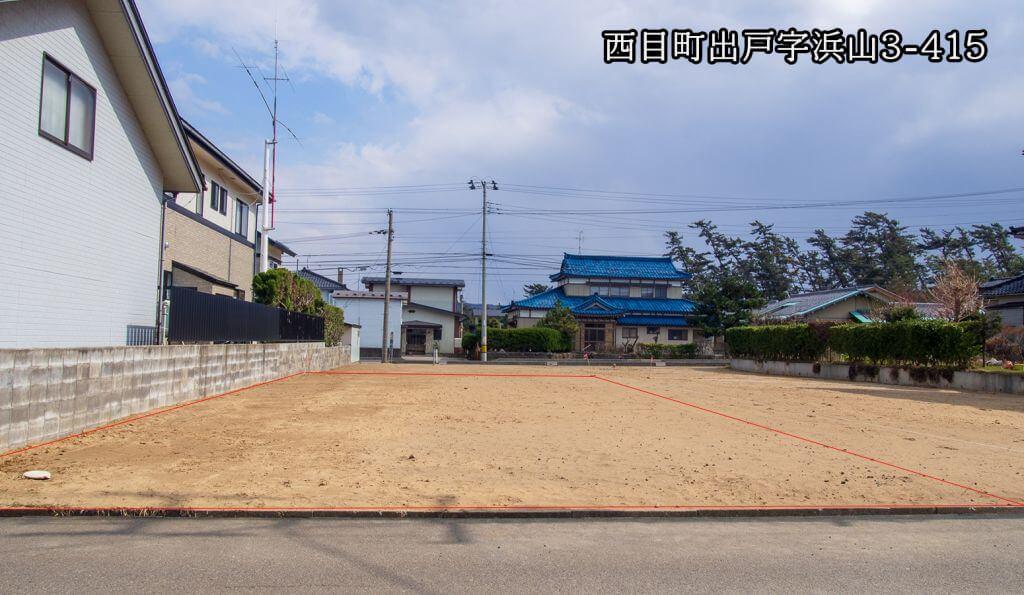 売土地(売主)450万円★西目町出戸字浜山3-415